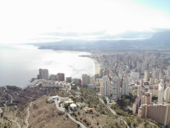 La Cruz de Benidorm: Fantastic views of Levante beach