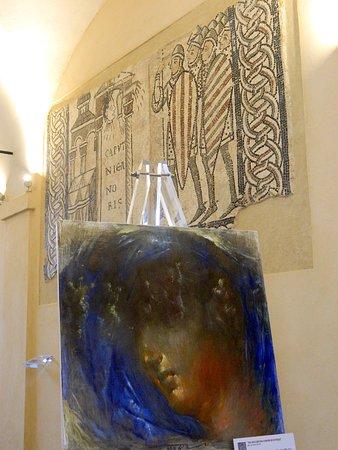 Cattedrale di Sant'Evasio (Duomo di Casale Monferrato): Duomo, mosaici e in primo piano tela di Gio Bonardi