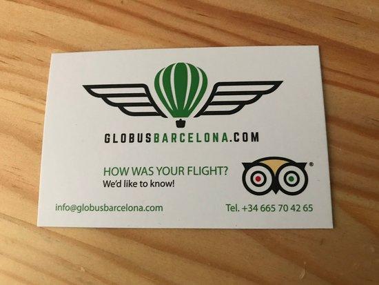 Globus Barcelona: card