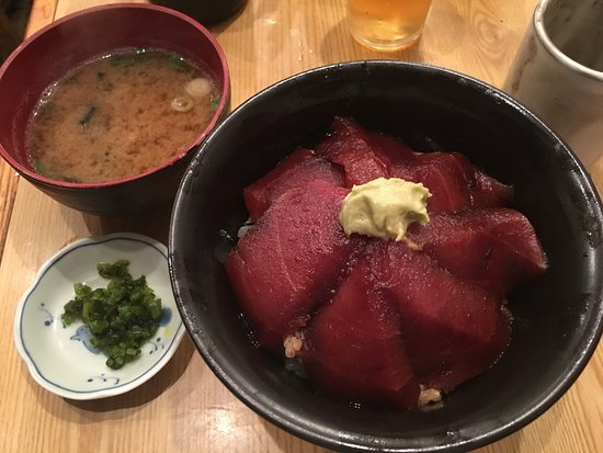 Maguro Koya : two layers of tuna (the surprise is on the bottom)