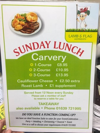 Glynneath, UK: Sunday Carvery