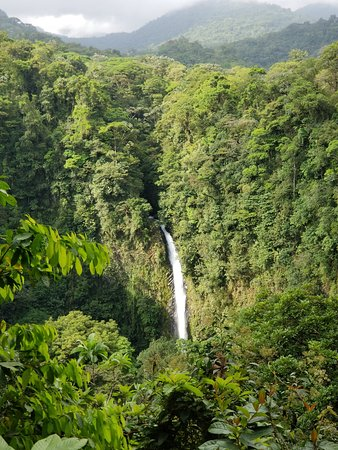Pacific Trade Winds: La Fortuna waterfall near Arenal volcano