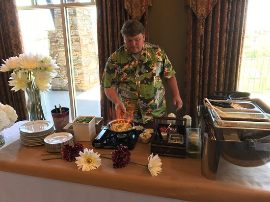 Mountain City, TN: Chef Cox at the Pasta Station
