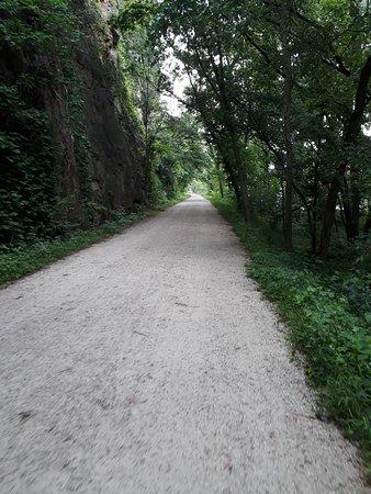 trilha de bike de Rocheport a Saint Louis
