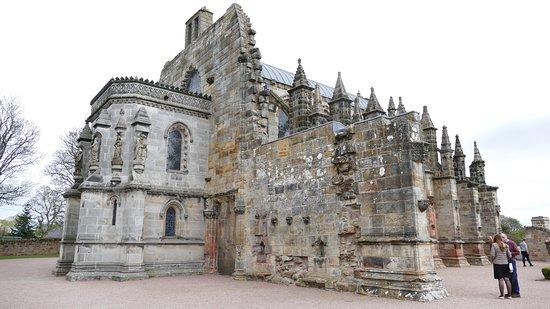 Rosslyn Chapel: Vue de l'arrière