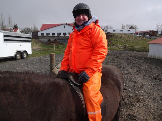 Riding Tours South Iceland: Thanks for the warm rain suits!