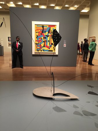 Philadelphia Museum of Art: Alexander Calder, The Water Lily, 1945 and gallery view