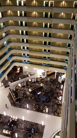 Houston Marriott South at Hobby Airport: Lobby from top floor