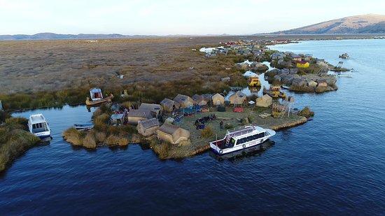 Uros Floating Islands: Aerial view