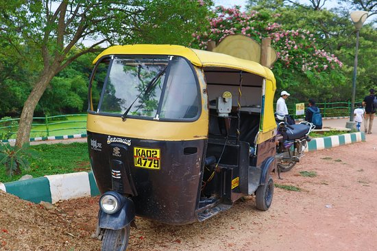 Lalbagh Botanical Garden: Auto in the Park