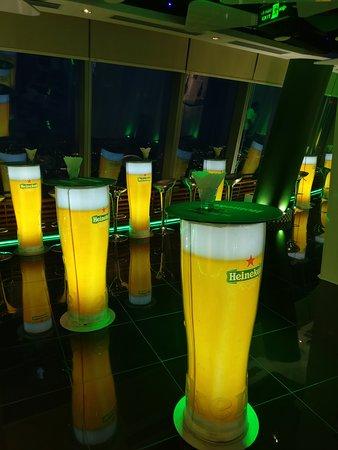 The World of Heineken: Tables in the final hangaround area