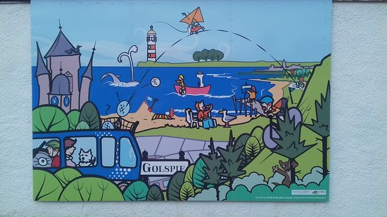 Community Art by Golspie Gallery - Golspie's Outdoor Attractions - wall mural
