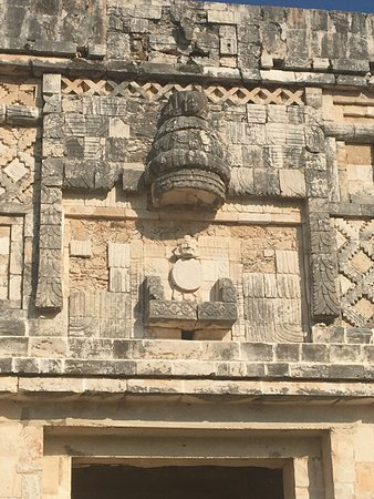 Uxmal, Mexico: above one of the entrances