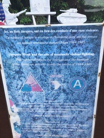 Bois de la Paix : Memorial to the the men of Easy Company