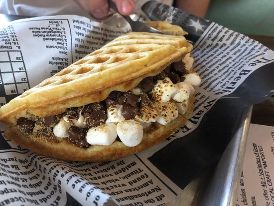 Smores Waffle Picture Of Project Waffle Cafe Lounge And Food