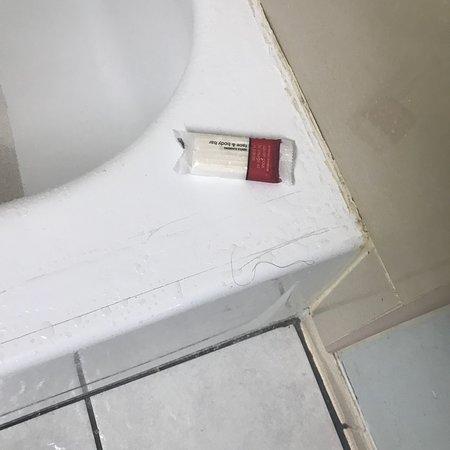 Portage, IN: Riktigt smutsigt badrum.