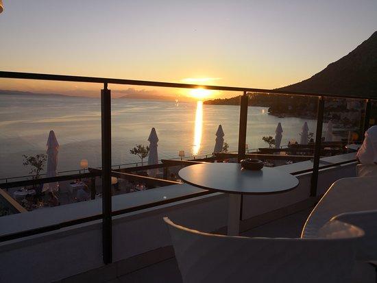 TUI BLUE Adriatic Beach: Vue de la terrasse de l'hôtel