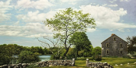 "Teaticket, MA: ""Bourne Farm"" West Falmouth MA 20x40 Oil on Canvas"