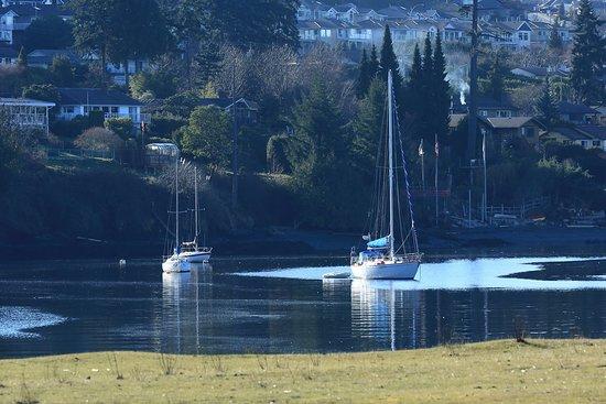 Glen Lyon Inn: Boats by the marina