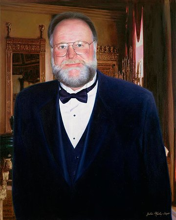 "Teaticket, MA: 'David Austin"" Portrait of David Austin 42x50 Oil on Linen"