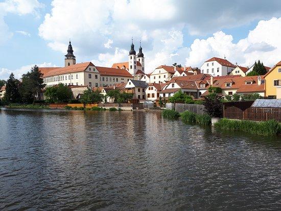 Historic Centre of Telc: Telč z mostu přes rybník