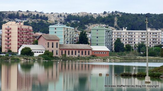 Discovering Cagliari: View of town from lake