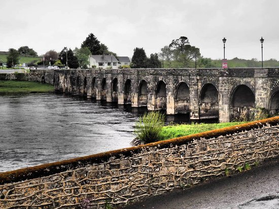 Shannonbridge, أيرلندا: view from table