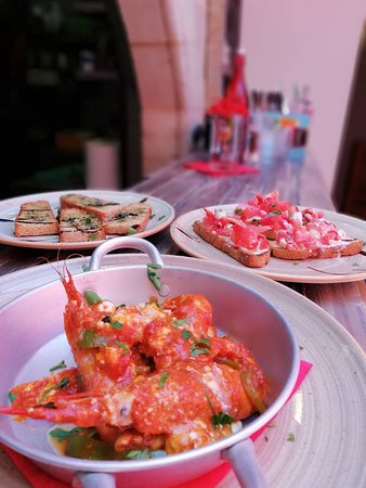 Manolis Restaurant Lindos: Γαρίδες σαγανάκι