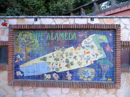 Gibraltar Botanic Gardens (The Alameda): Ceramic map of garden