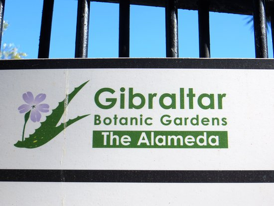Gibraltar Botanic Gardens (The Alameda): Sign and logo
