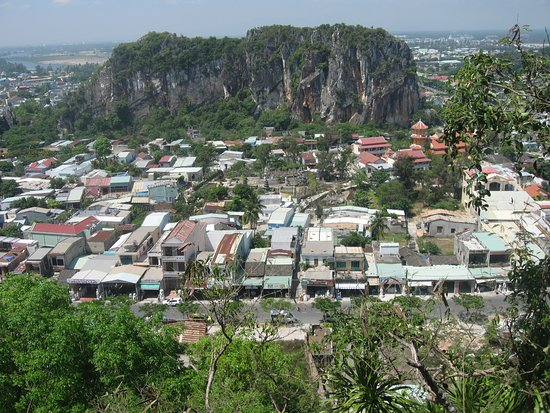 The Marble Mountains: The town.