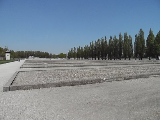 Dachau Toplama Kampı: The foundations where many more cabins would have been...