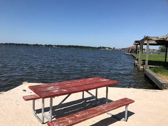 Willis, TX: Lake Conroe view at the boat ramp.