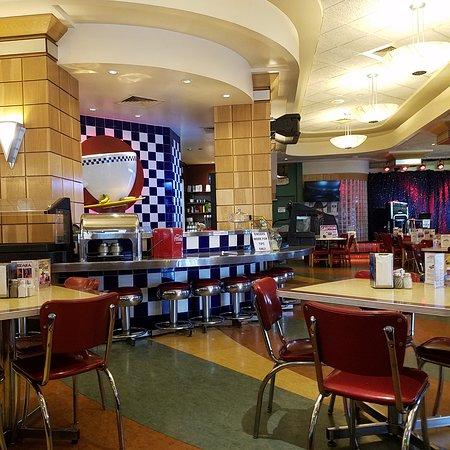 Jackie B. Goode's Uptown Cafe: Interior Shot of Diner Bar ARea