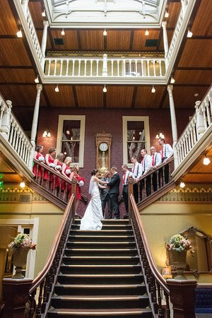 Beaumont Hotel & Spa: Ceremony on the Grand Staircase