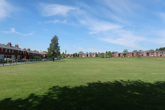 The main field of Limeside Park just after the grass was cut.