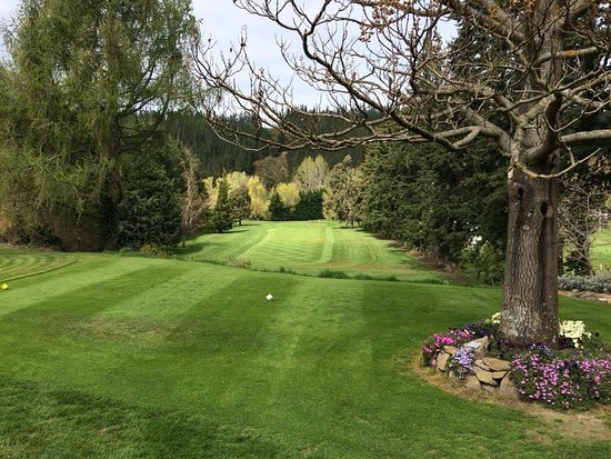 Darfield, New Zealand: Number 17, par 3 182m, elevated tee a fantastic hole