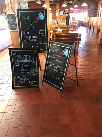 Hungry Bear Restaurant French River Trading Post: Specials Boards