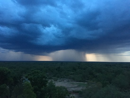 Rainstorm over Mole National Park (view from room at Zaina Lodge)