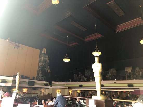 The Regal, Wetherspoon: View from our table- cool Oscar statues and King Kong
