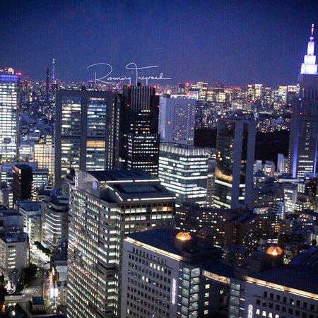 Sunset drinks over Tokyo