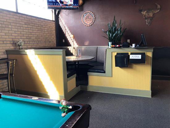 Pool Table And Big Round Booth Table In The Corner Picture Of - Round booth table