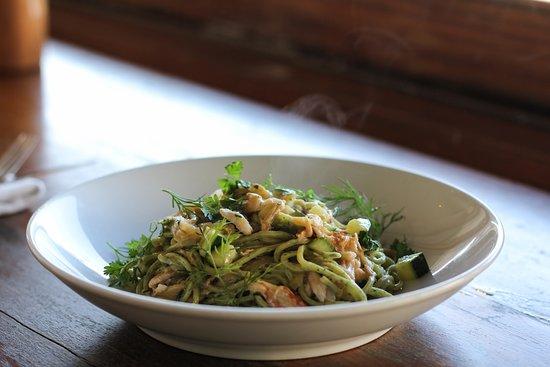 The Corner House: Fresh crab tagliolini - main restaurant