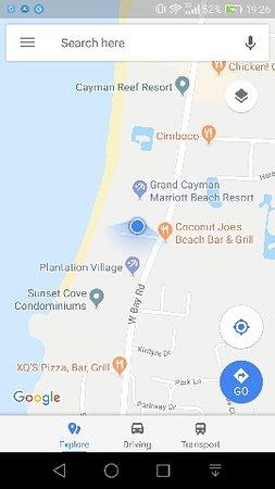 Comfort Suites Seven Mile Beach Map