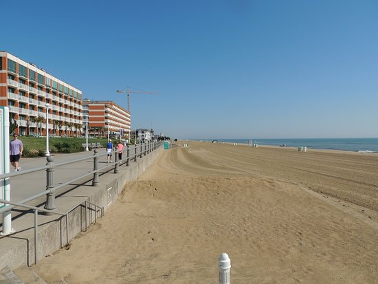Virginia Beach Boardwalk The North End Area After Being Graded In Morning Hours