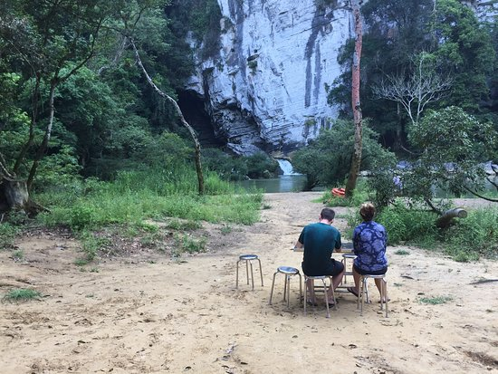 Oxalis Adventures Tours: the first campsite view