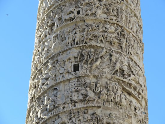Column of Marcus Aurelius: Some of the detailed carvings