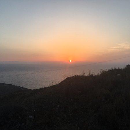 Sunset in Oia Resmi