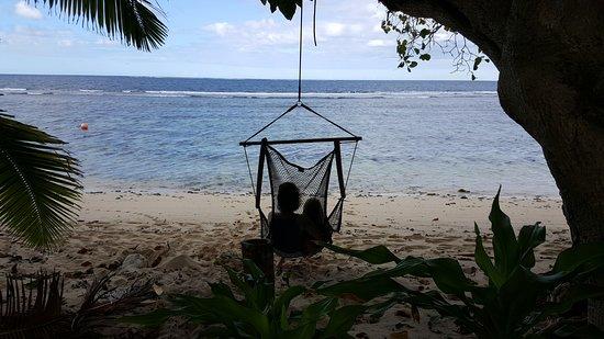 Qamea Island, Fiyi: Hammocks on the beach