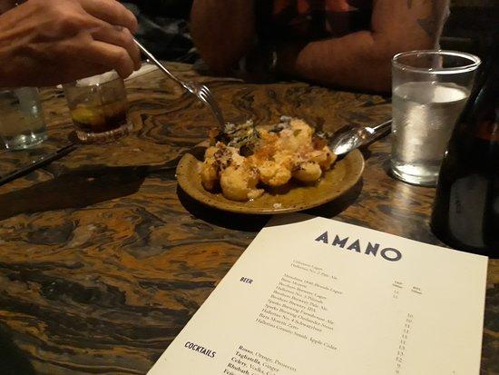 Amano: menu